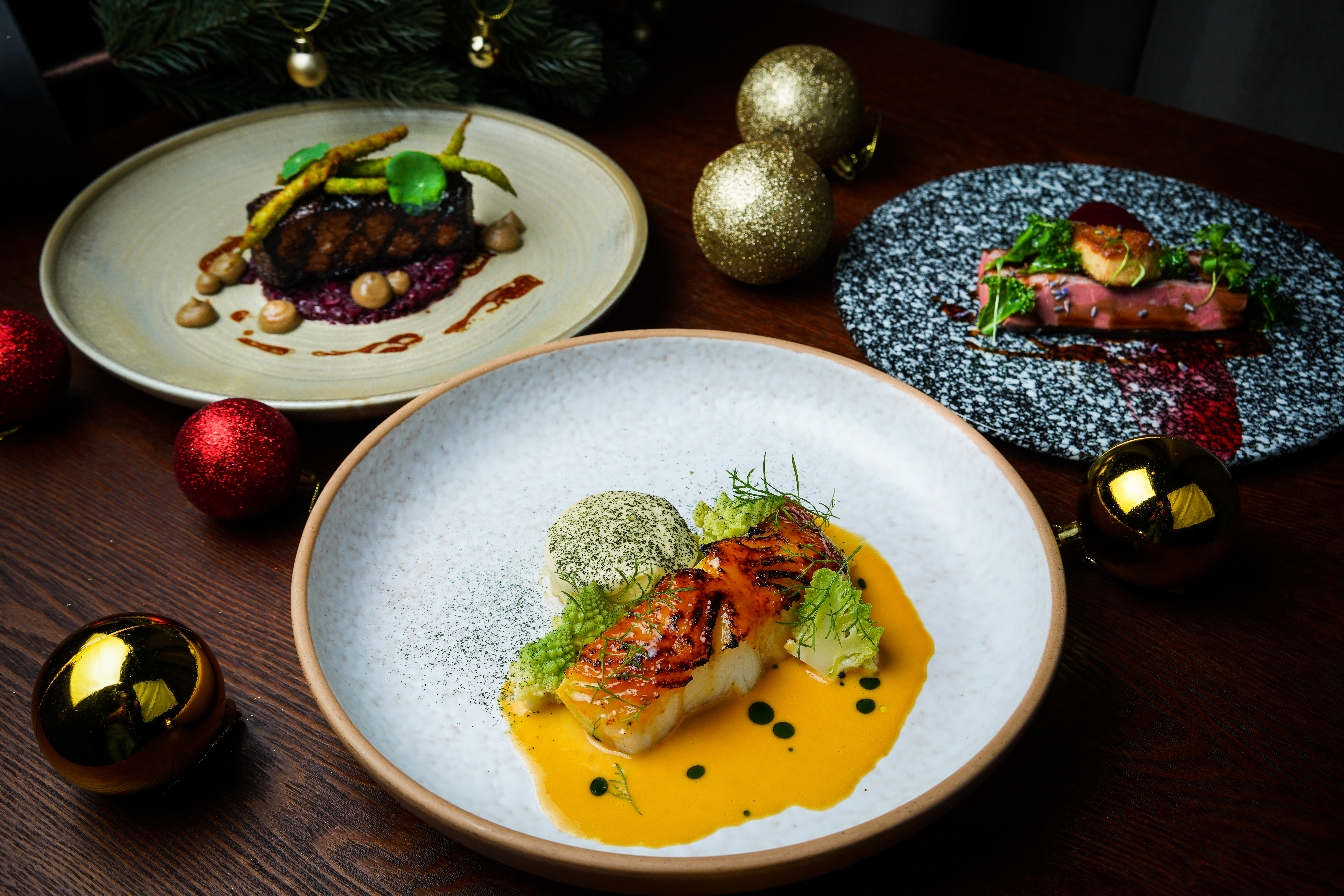 Christmas Eve dinner at The Spot Singapore, featuring a 6 course dinner menu coupled with sparkling wine.